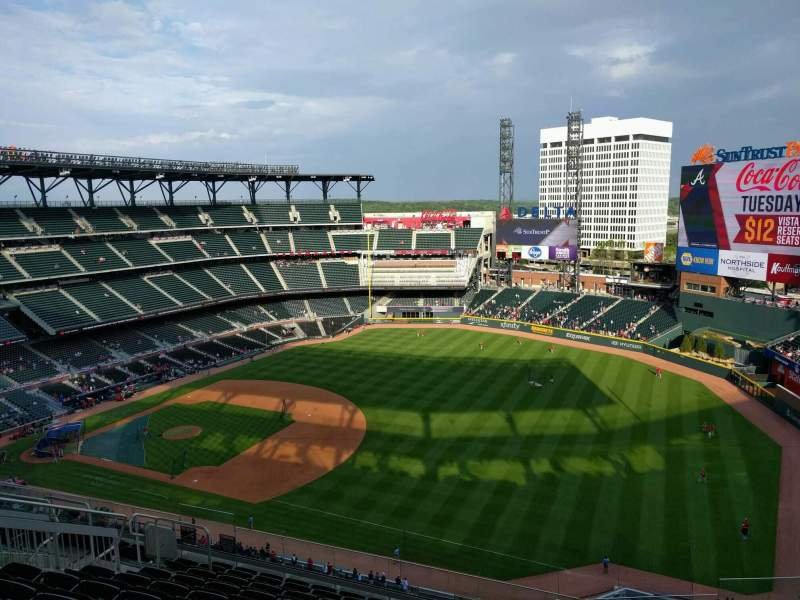 Seating view for Truist Park Section 414 Row 11 Seat 11