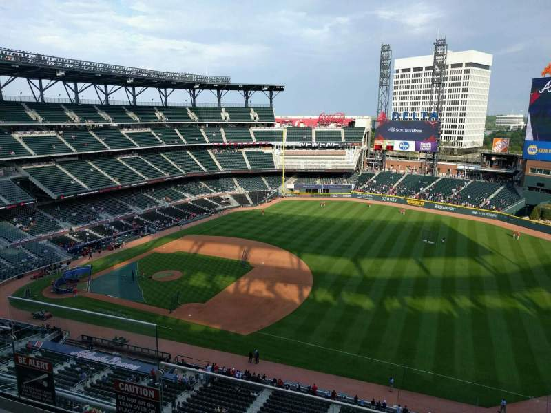Seating view for SunTrust Park Section 416 Row 4 Seat 18