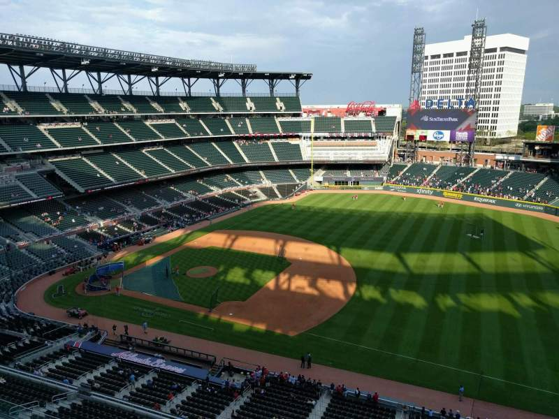 Seating view for Truist Park Section 417 Row 1 Seat 5