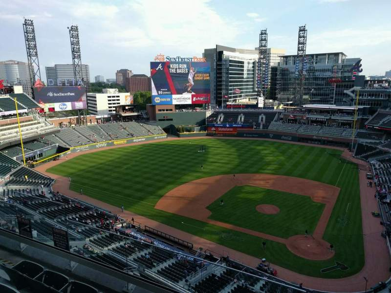 Seating view for Truist Park Section 429 Row 4 Seat 6