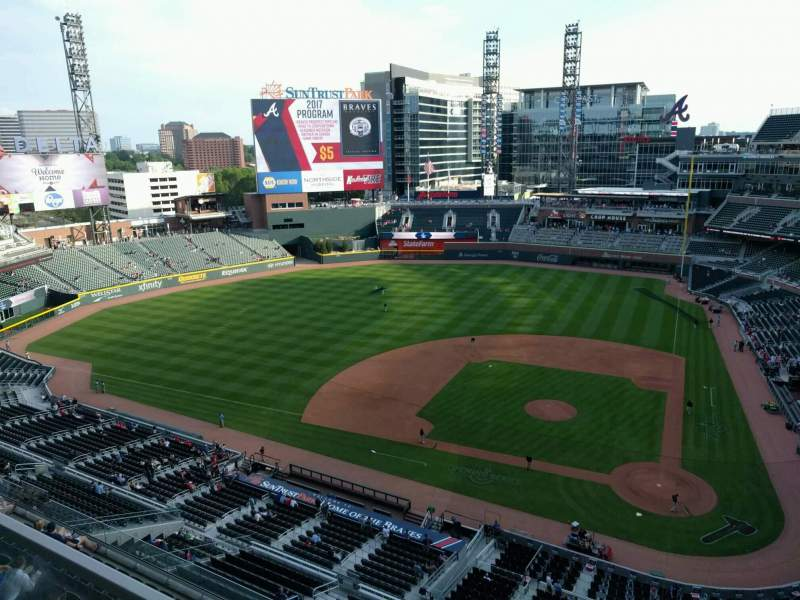 Seating view for Truist Park Section 430 Row 1 Seat 8