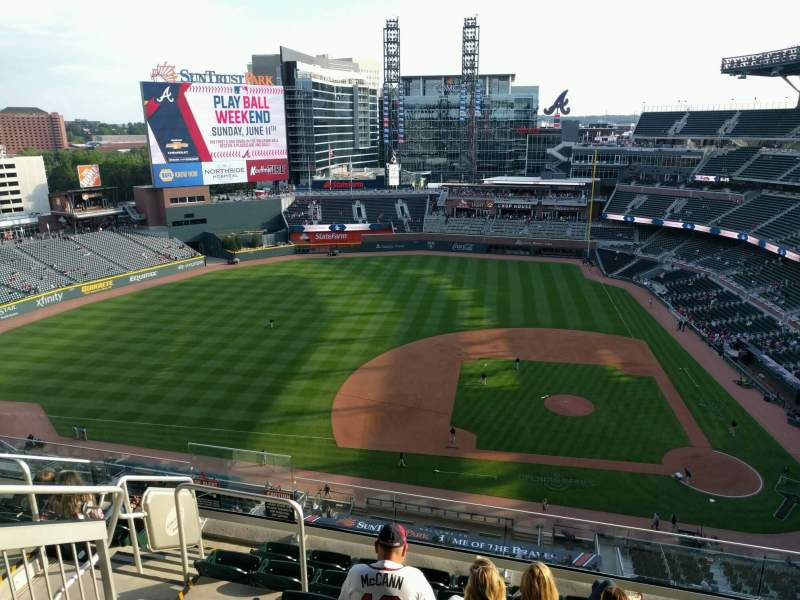 Seating view for Truist Park Section 431 Row 6 Seat 16