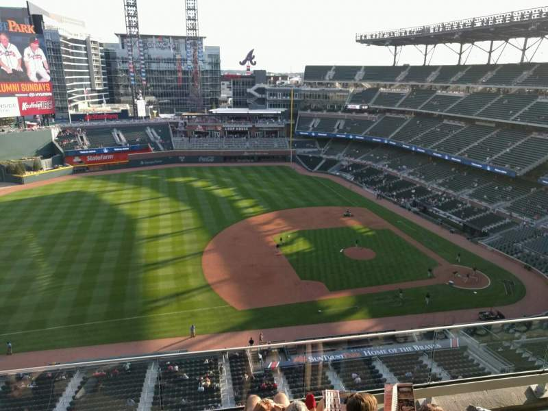 Seating view for Truist Park Section 435 Row 4 Seat 16