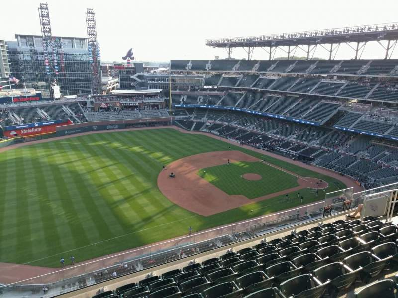 Seating view for Truist Park Section 438 Row 8 Seat 16