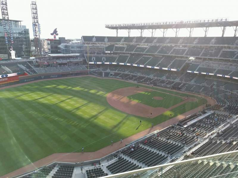 Seating view for Truist Park Section 440 Row 2 Seat 23