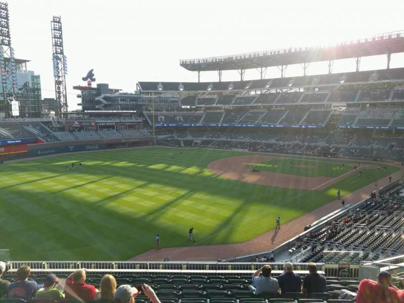 Seating view for Truist Park Section 242 Row 10 Seat 12