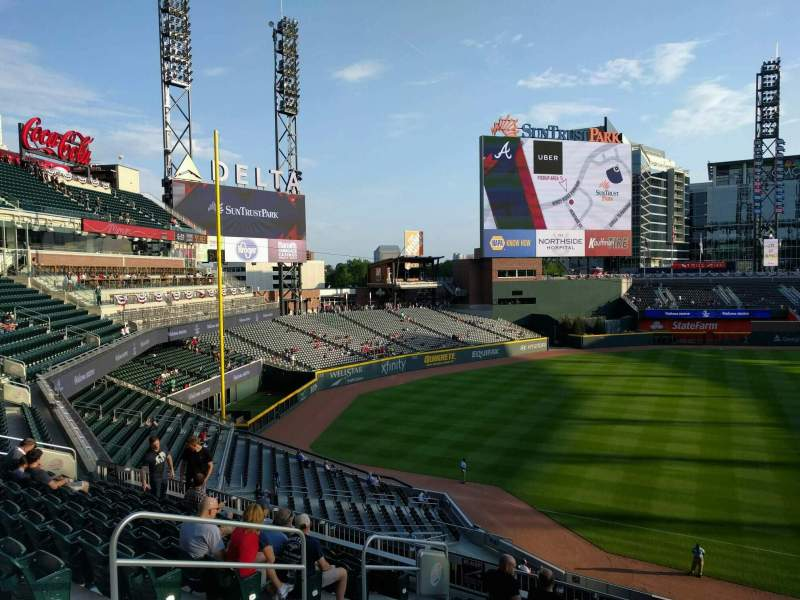 Seating view for Truist Park Section 238 Row 9 Seat 12