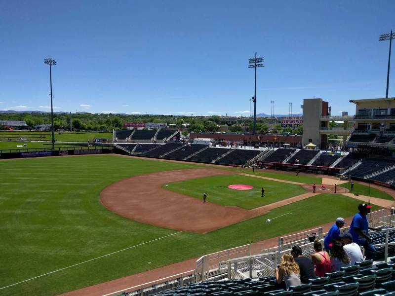 Seating view for Isotopes Park Section 205 Row l Seat 14