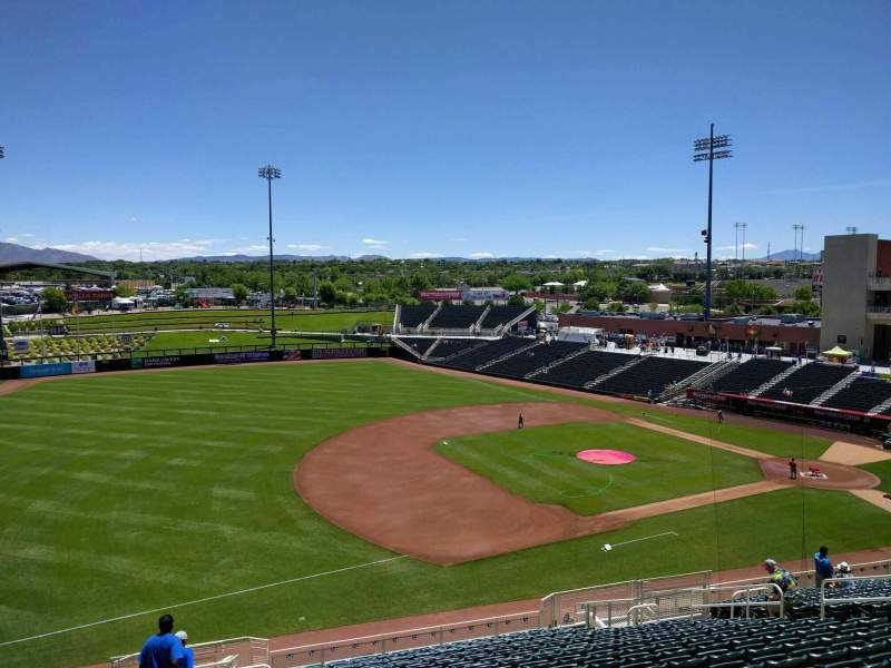 Isotopes Park, section: 203, row: t, seat: 17