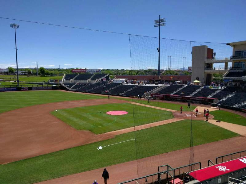Seating view for Isotopes Park Section 201 Row b Seat 18