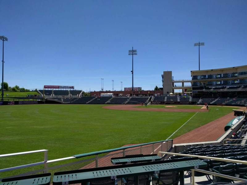 Seating view for Isotopes Park Section 125 Row j Seat 4
