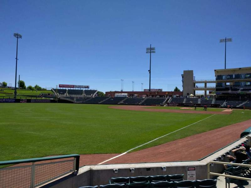 Seating view for Isotopes Park Section 123 Row g Seat 9