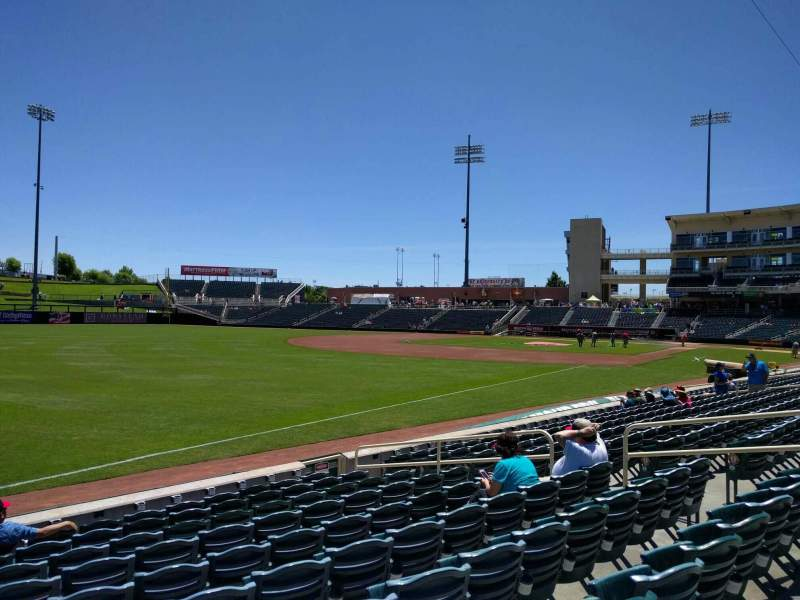 Seating view for Isotopes Park Section 121 Row j Seat 13