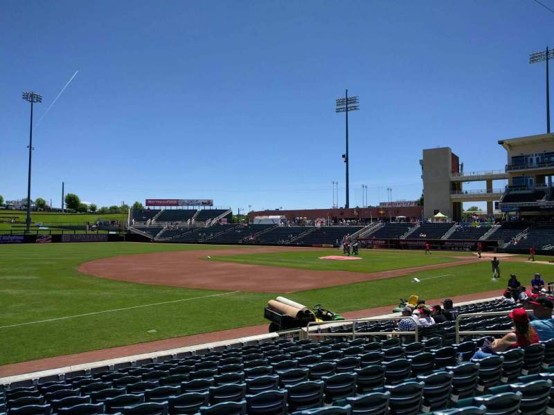 Seating view for Isotopes Park Section 117 Row l Seat 14