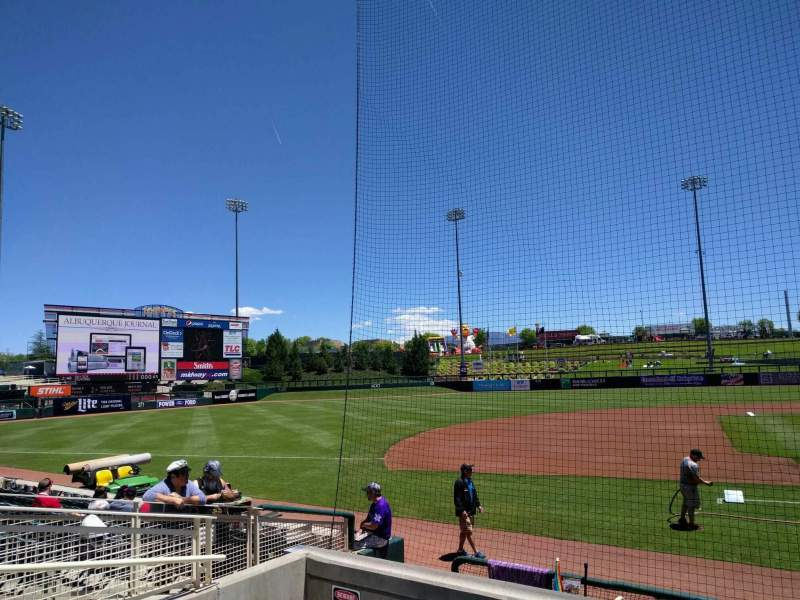 Seating view for Isotopes Park Section 113 Row j Seat 5