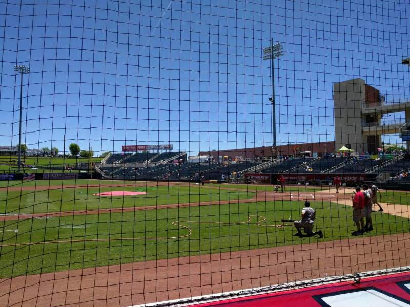 Isotopes Park, section 111, row f, seat 8 - Albuquerque ...