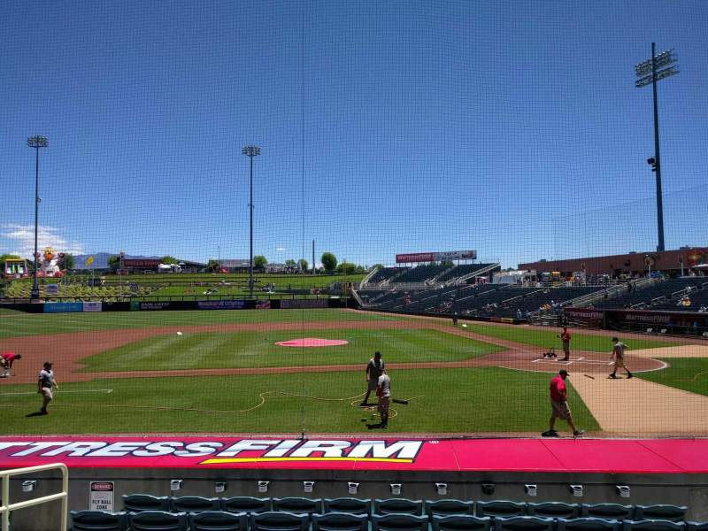 Seating view for Isotopes Park Section 109 Row m Seat 6