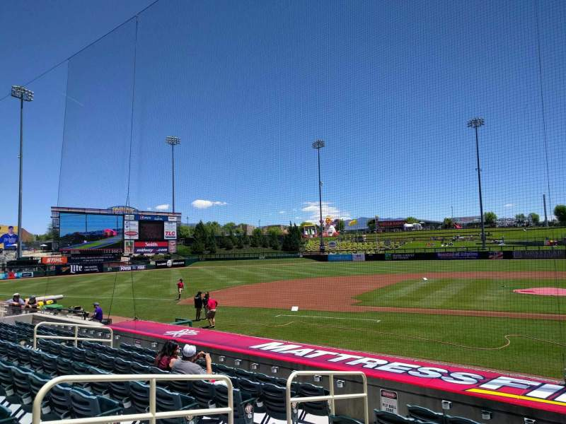 Seating view for Isotopes Park Section 109 Row m Seat 8
