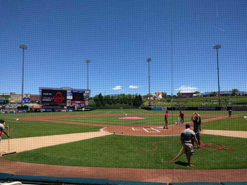 Seating view for Isotopes Park Section 101 Row e Seat 6