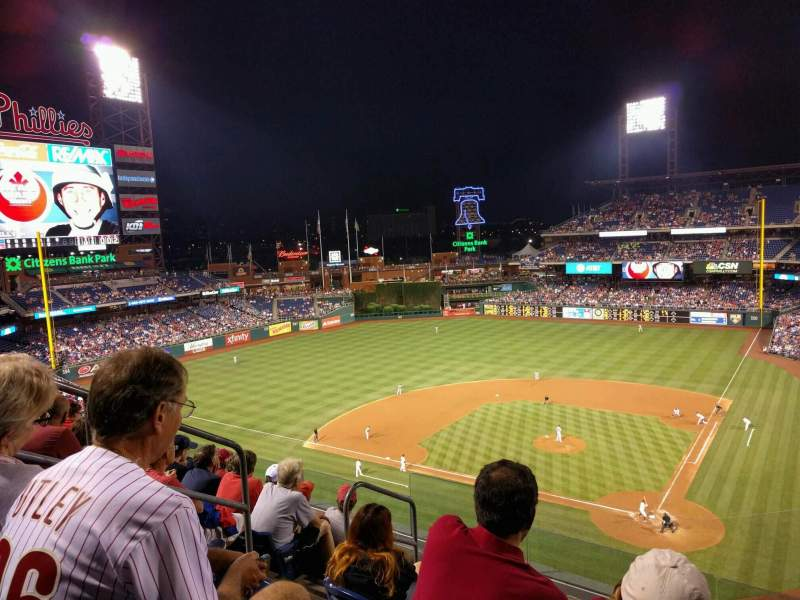 Seating view for Citizens Bank Park Section 323 Row 6 Seat 8