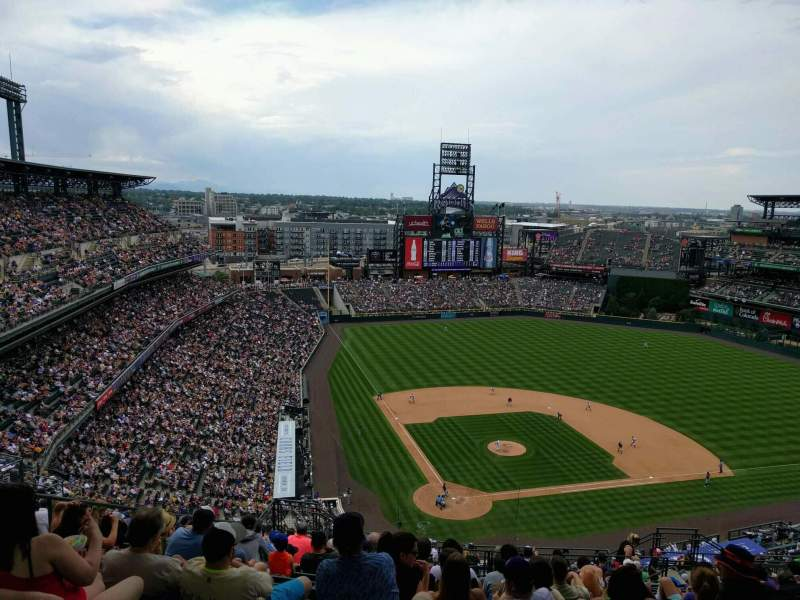 Seating view for Coors Field Section U328 Row 24 Seat 13