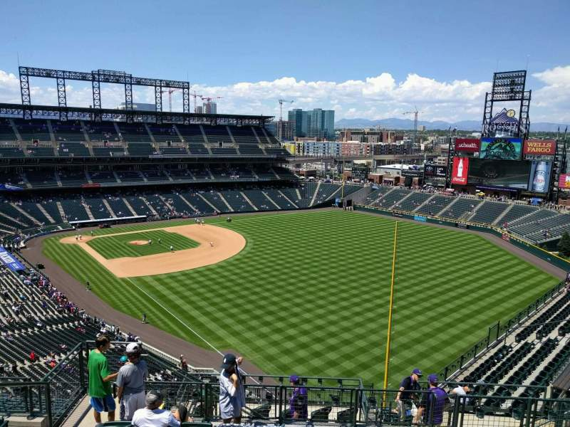 Seating view for Coors Field Section U311 Row 17 Seat 14