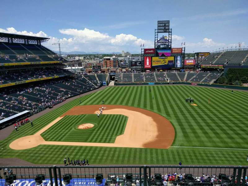 Seating view for Coors Field Section L321 Row 4 Seat 19