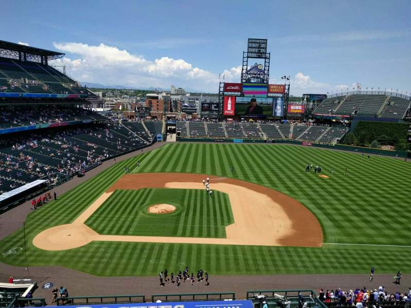 Seating view for Coors Field Section L323 Row 1 Seat 18