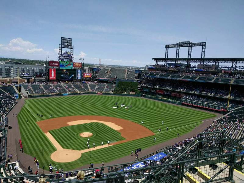 Seating view for Coors Field Section U328 Row 13 Seat 9