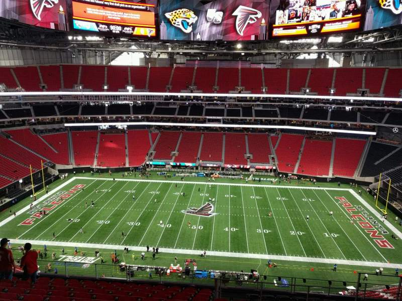Seating view for Mercedes-Benz Stadium Section 311 Row 12 Seat 11