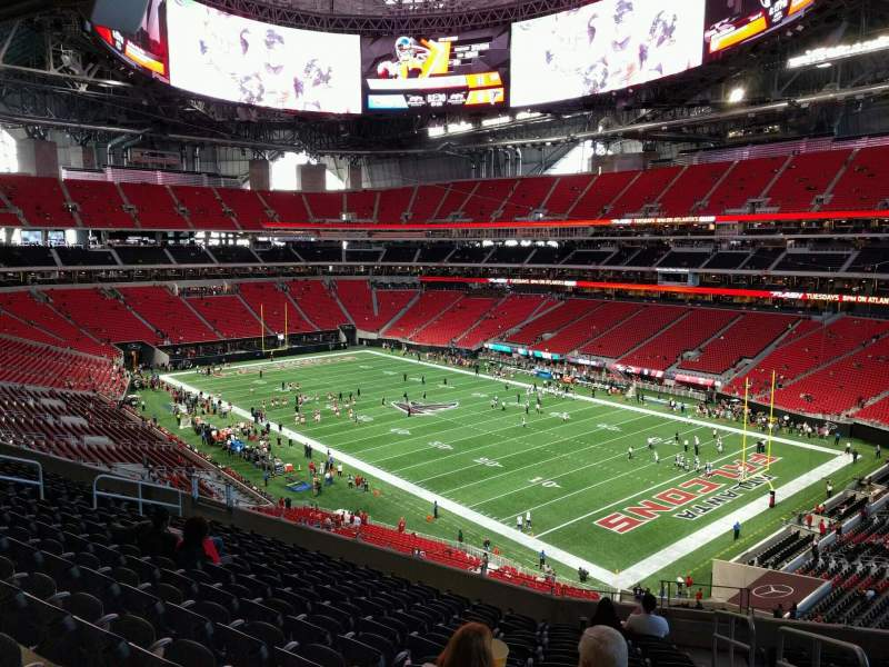 Mercedes benz stadium section 204 row 12 seat 3 for Hotel near mercedes benz stadium atlanta