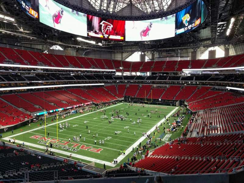 Seating view for Mercedes-Benz Stadium Section 246 Row 9 Seat 20