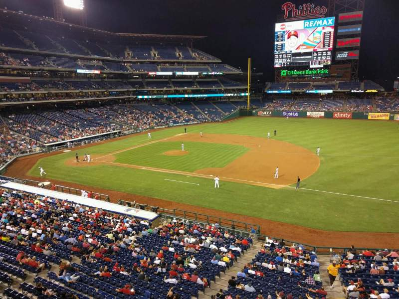 Seating view for Citizens Bank Park Section 213 Row 1 Seat 2
