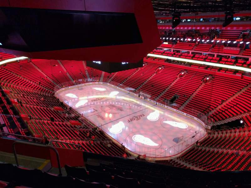 Seating view for Little Caesars Arena Section 222 Row 9 Seat 18