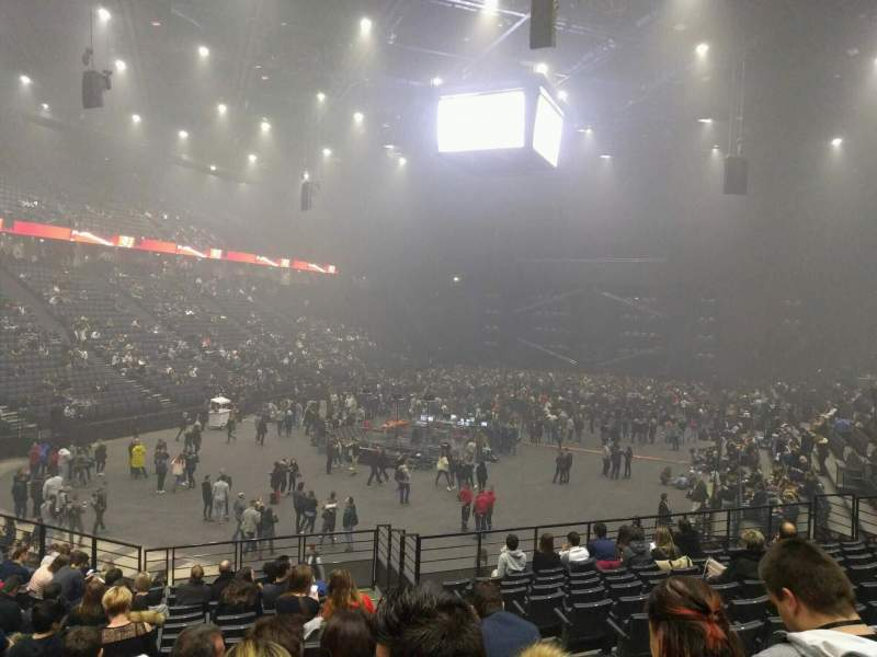 AccorHotels Arena, section: b, row: 10, seat: 21