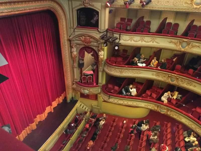 Seating view for Théâtre Royal du Parc Section Quatrième Balcon Row a Seat 15