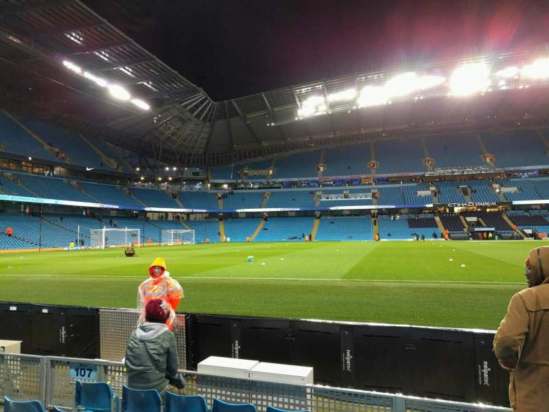 Seating view for Etihad Stadium (Manchester) Section 106 Row c Seat 149