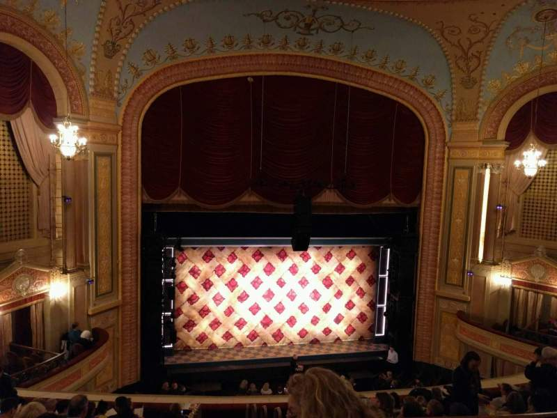 Seating view for Forrest Theatre Section Rear Mezzanine B Row c Seat 2