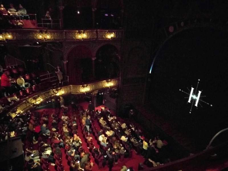 Palace Theatre West End Section Upper Circle Row B