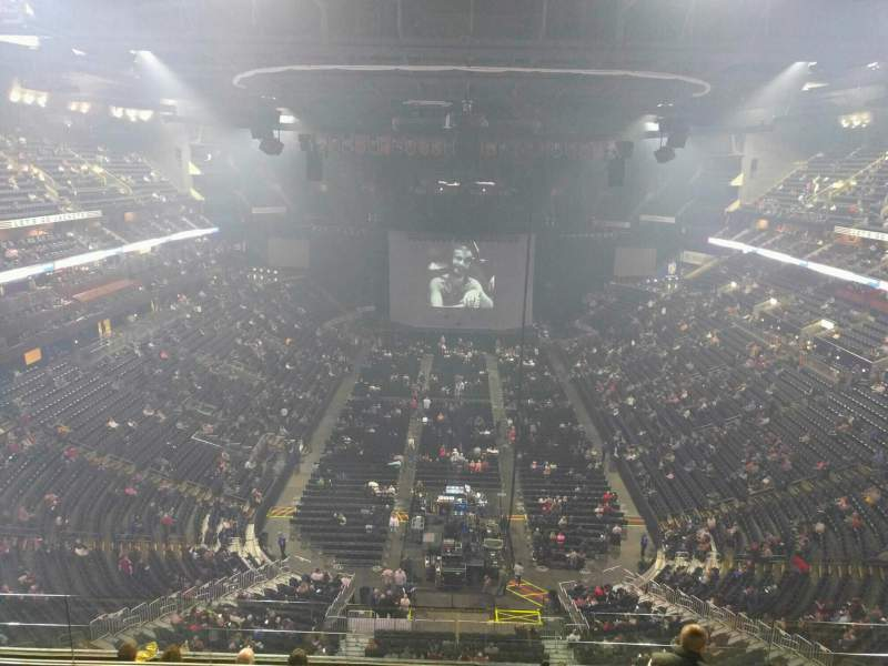 Seating view for Nationwide Arena Section 210 Row h Seat 9