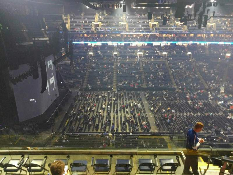 Seating view for Nationwide Arena Section 218 Row h Seat 1