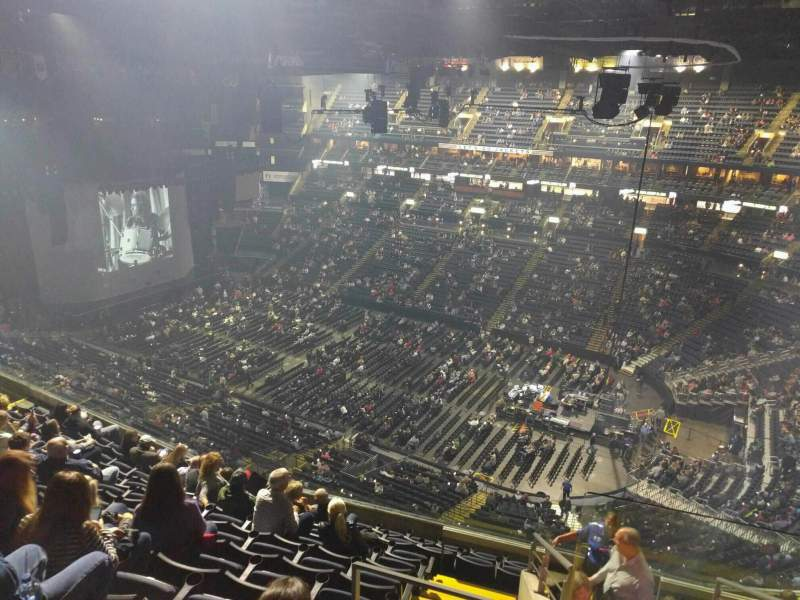 Seating view for Nationwide Arena Section 215 Row k Seat 2
