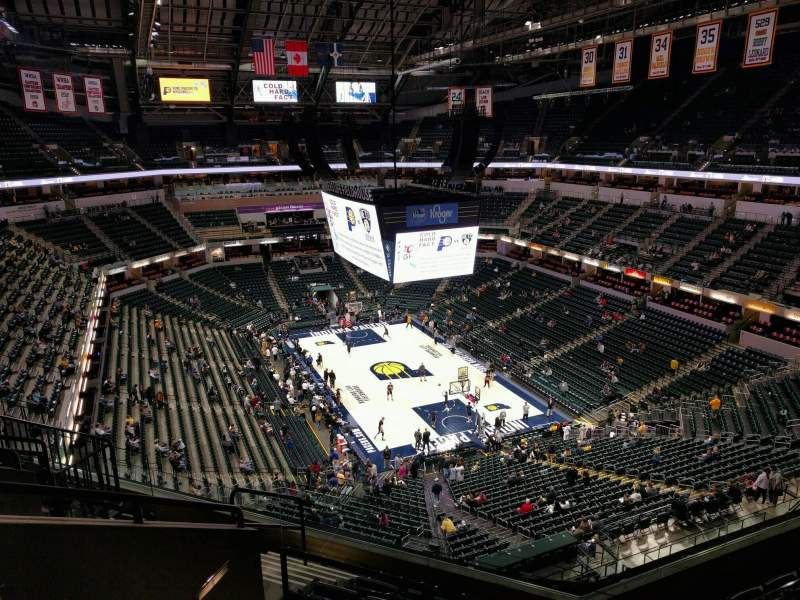 Seating view for Bankers Life Fieldhouse Section 203 Row 7 Seat 13
