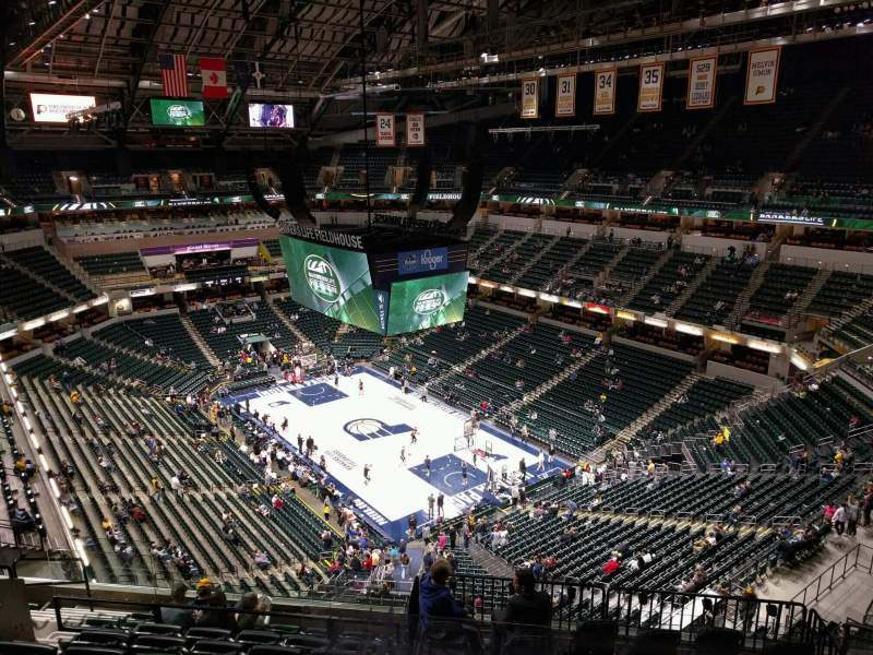 Seating view for Bankers Life Fieldhouse Section 204 Row 10 Seat 10