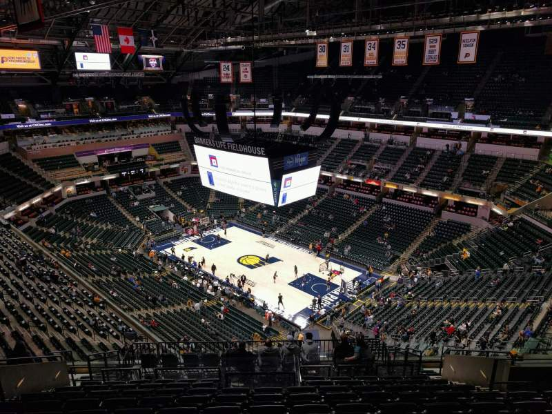 Seating view for Bankers Life Fieldhouse Section 205 Row 14 Seat 10