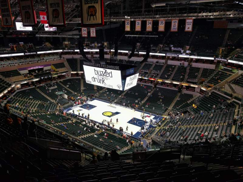 Seating view for Bankers Life Fieldhouse Section 206 Row 16 Seat 7