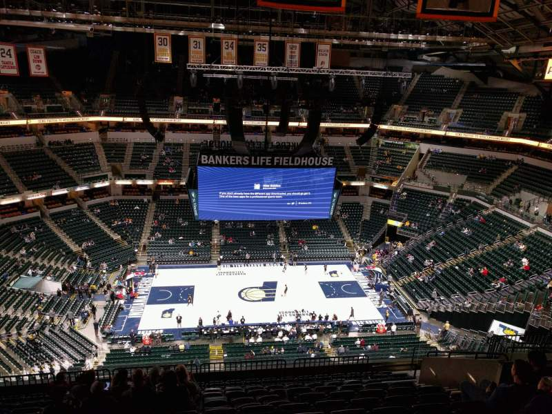 Seating view for Bankers Life Fieldhouse Section 209 Row 13 Seat 11