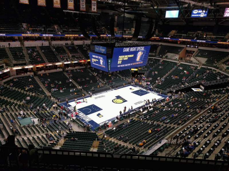 Seating view for Bankers Life Fieldhouse Section 212 Row 6 Seat 8