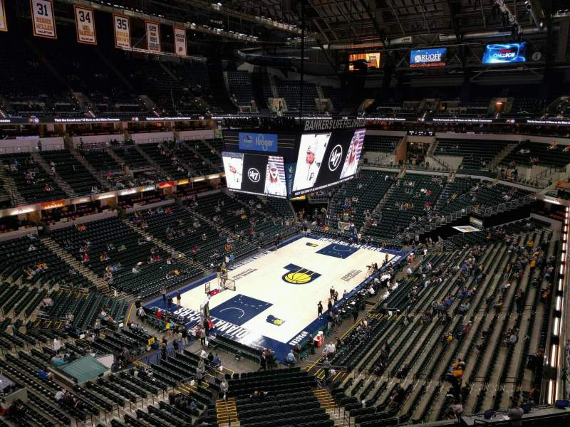 Seating view for Bankers Life Fieldhouse Section 213 Row 2 Seat 8