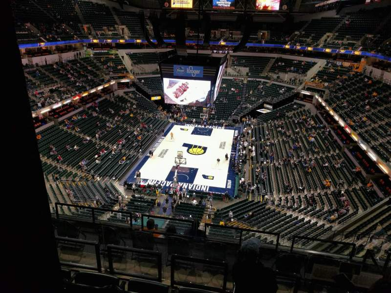 Seating view for Bankers Life Fieldhouse Section 216 Row 8 Seat 8